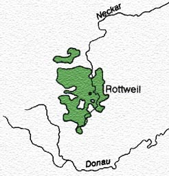 The Territory of the Reichsstadt Rottweil till 1802