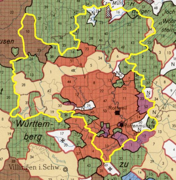 reichsstadt rottweil territory till 1802
